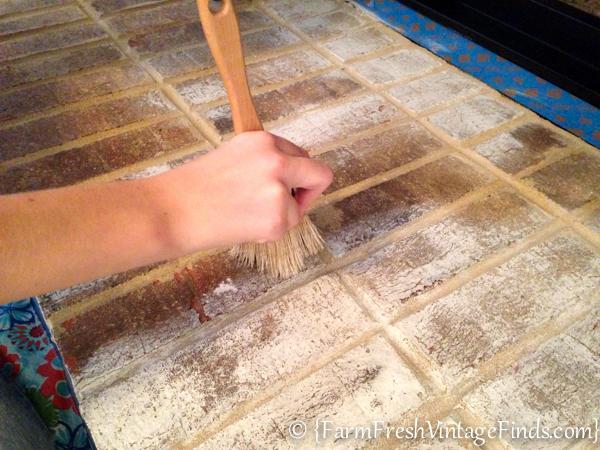 Brick Floor Paint : How to whitewash brick farm fresh vintage finds