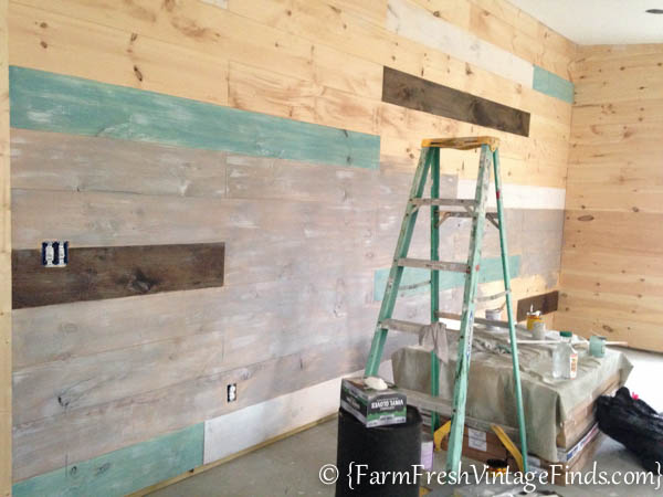 How To Whitewash Plank Walls Farm Fresh Vintage Finds