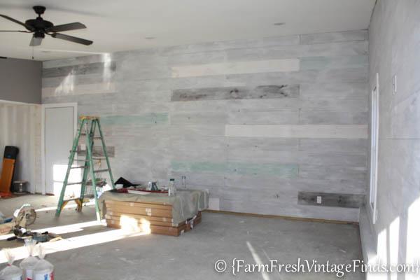 how to whitewash plank walls farm fresh vintage finds. Black Bedroom Furniture Sets. Home Design Ideas