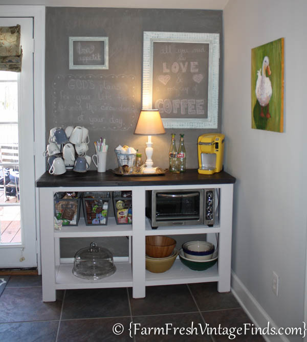 Perfect Coffee Bar, Theme Furniture Makeover Day~Inspired By Ana White  YW41