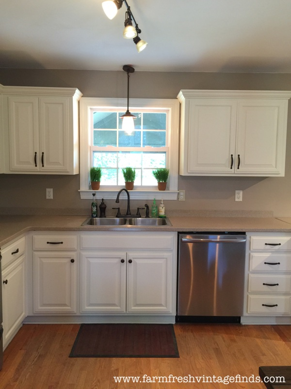 Painted Oak Kitchen Cabinet Reveal